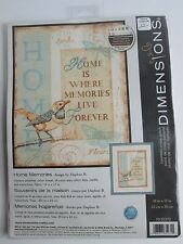 """Dimensions Counted Cross Stitch Kit """"Home Memories""""   10x13  Daphne B   NOS"""