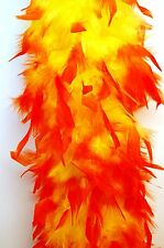CHANDELLE FEATHER BOA - YELLOW w/ ORANGE Tip ; Costume/Halloween/Dress/Bridal
