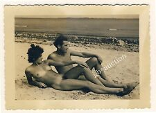 Nudism NUDE COUPLE ON BEACH / NACKTES PAAR FKK * Vintage 50s Amateur Photo #1