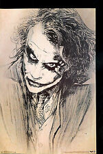 (LAMINATED) BATMAN JOKER - DARK KNIGHT SKETCH POSTER (87x57cm)  NEW LICENSED ART