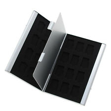 24 Slots Aluminum 24x TF Micro SD Memory Card Protecter Box Storage Case Holder