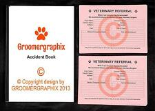 DOG GROOMING - ACCIDENT & REFERRAL SET stationery by GROOMERGRAPHIX