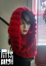 Hand Knit Oversized Cowl inspired by Claire Outlander Scarlet Red ready 2 Ship