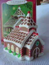 HALLMARK 2000 GINGERBREAD CHURCH Christmas Ornament COOKIE dough house TREATS w