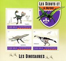Madagascar 2016 MNH Scouts & Nature Dinosaurs 3v M/S Scouting Stamps