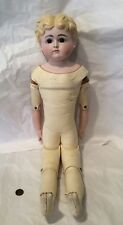 "22"" Antique Bisque Doll... Glass Eyed Parian...beautiful."