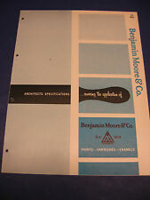 Benjamin Moore Paint 1959 Catalog & Specifications Asbestos Testing?