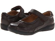 Stride Rite Brown Leather MaryJanes School Shoes Little Girls Size 11 M