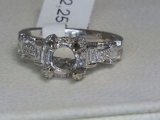 14K WHITE GOLD 1.00 CTW FOR .50 CT ROUND DIAMOND ENGAGEMENT SEMI MOUNT RING