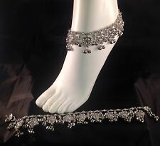 Silver Anklet/Payal,Stunning Fashion jewellery,Bollywood style,RJ23-603