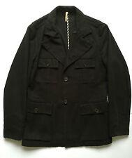 Grifoni giacca denim nero jeans jacket uomo usato tg 50 vintage cotone lungo