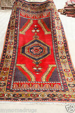 Lovely 1900-1939s 4'3''x8'  Tent Woven Multi-Colored  Wool Dowry Area Rug