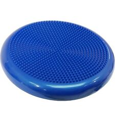 More Mile Stability Disc Balance Pad Wobble Cushion Ankle Knee Yoga Board - Blue