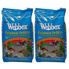 20kg Webbox Rainbow Pellets KOI CARP & Pond Fish Food