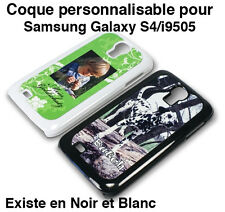 SAMSUNG GALAXY S4 / i9505 COQUE ETUI BLANC PERSONNALISABLE PHOTO TEXTE LOGO
