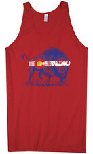 Threadrock Men's Buffalo Colorado Flag Tank Top Denver State