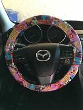 DC Comics Superheroines Supergirl,Wonder Woman&Batgirl Steering Wheel Cover(Pink