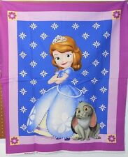 "1 Disney ""Sofia"" Wallhanging/Lap Quilt Panel Fabric"