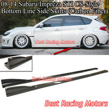 08-14 Impreza WRX STi CS Style Bottom Line Side Skirts (Carbon)