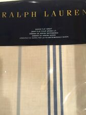 NIP RALPH LAUREN ISLA MENORCA STRIPED Queen FLAT SHEET