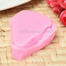 2Pcs Flower Petal Leaf Silicone Mould 3D Embosser Cake Decor Fondant Baking Mold