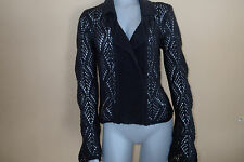 DIESEL sweater BLACK CARDIGAN,BLAZER,top,JACKET, WOOL MOHAIR BLEND SZ M,*I