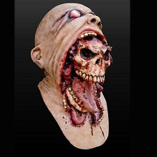 Scary Halloween Bloody Zombie Mask Melting Face Adult Latex Costume Walking Dead