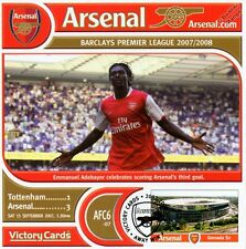 Arsenal 2007-08 Tottenham (Emmanuel Adebayor) Football Stamp Victory Card #706