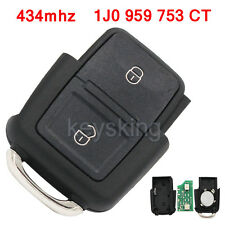 434MHZ For VW BORA GOLF MK4 POLO 1J0 959 753 CT REMOTE CONTROL TRANSMITTER