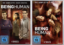 8 DVDs * BEING HUMAN - STAFFEL / SEASON 1 + 2 IM SET # NEU OVP $