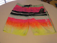 Men's Hurley board shorts swim surf skate trunks boardshorts 36 multi color