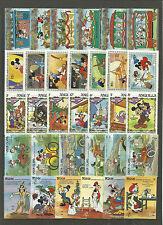 WALT DISNEY CARTOON STAMPS COLLECTION PACKET of 30 Different Stamps MNH (Lot 6)