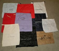 Lot of 10 Assorted Auth Designer Dust Cover Bags for Shoes Purses Storage Travel