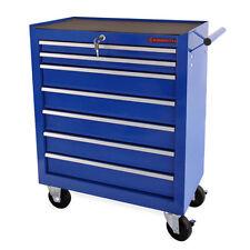 EBERTH Carro de herramientas 7 cajones taller caja garaje macanico cerradura azu
