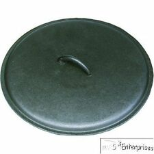 """Texsport outdoor camping 13"""" dutch oven cast iron skillet LID 14484"""