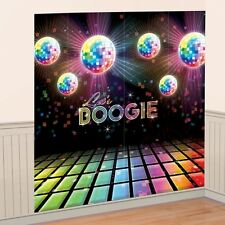 70s Party Disco Ball Dance Floor Scene Setter Wall Decorating Night Fever