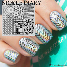 Nail Art Stamp Plate Image Stamping Manicure Template Geometry Design DIY ND111