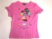 BEREK 2 Womens SIZE M New NWT Cocktail Sequin Tee T- Shirt Embellished Top Drink