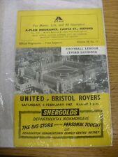 04/02/1967 Oxford United v Bristol Rovers  . Thanks for viewing this item, buy w