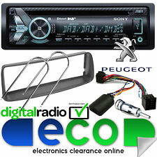Peugeot 206 2002-10 Sony DAB+ CD MP3 USB Bluetooth Car Stereo Steering Wheel Kit
