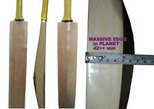 LONG HANDLE Biggest edge ever 42++mm Edge CUSTOM MADE ENGLISH WILLOW Cricket Bat