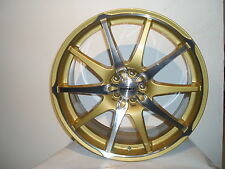 "Dotz Shiruken Gold and Polished 8x18"" Alloy for Daewoo Lexus Ford Prob Nissan"