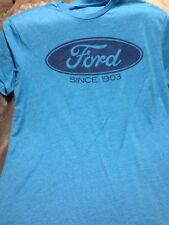 Ford XL T shirt Motor Company Gap Tee Blue Extra Large Truck Car Automotive