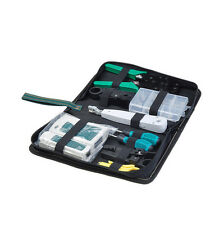 Internet Network Cable Tool Kit Inc Carry Case 8 Pieces Cabling Crimper Tester