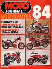 MOTO JOURNAL  620 CARDEL 125 GS BMW K100 K 100 HESKETH V 1000 HONDA VF 500 F2