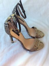Ladies  Sexy TOPSHOP Snake Skin High Heel Sandals. size 3