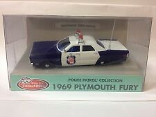 1:43 Scale White Rose Collectibles 1969 Plymouth Fury Wisconsin State Patrol car