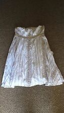 GORGEOUS MONSOON size 18 cotton dress white and gold