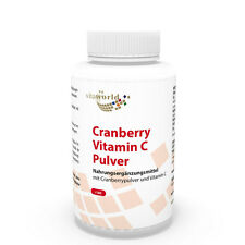 Vita World Cranberry 400mg + Vitamin C 180 Kapseln Made in Germany