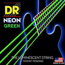 DR NEON NGB5-45 HiDef NEON GREEN COATED BASS STRINGS, MEDIUM GAUGE 5's - 45-125